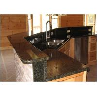 Verde Uba Tuba Granite Countertops , Granite Kitchen Island Countertop Custom Size