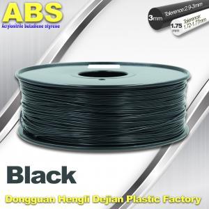 Buy cheap Black 1.75mm /3.0mm 3D Printer Filament , Ultimaker 3D Printer Consumables ABS Filament product