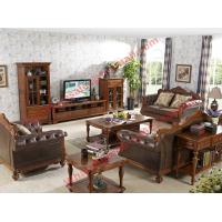 Buy cheap 1+2+3 Italy Leather Upholstery Sofa Set with Wooden Tv Stand and Storage Cabinet from wholesalers