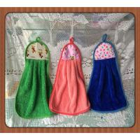 Buy cheap hot sale 100% cotton hanging embroidery round kitchen towel with loop product