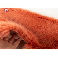 Buy cheap Soft Bright Colors Silky Faux Fox Fur Fabric , Light Brown Faux Fur Fabric 35mm Pile from wholesalers