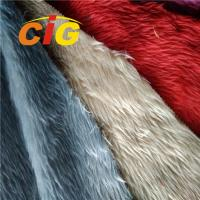 Buy cheap Fashion 100% Polyester Colorful Artificial Fur For Car Seat Cover / Home Textile product
