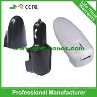 Buy cheap 2015 new design 2 in 1 travel charger and car charger cell phone car charger from wholesalers