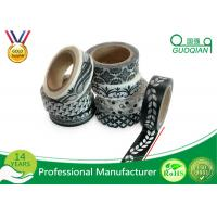 Buy cheap 15mm * 10m Black and White Washi Tape Premium Japanese Washi Tape For Decorative from wholesalers