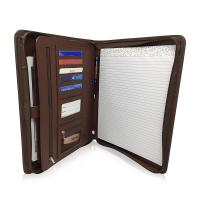 Buy cheap Personalized Leather Padfolio With Zipper , Professional Leather Business Padfolio from wholesalers