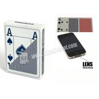 Buy cheap Blue Jumbo 4 Index Copag Plastic Playing Cards For Poker Predictor from wholesalers