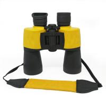 Buy cheap Yellow Waterproof Porro Bak4 Prism 12x50 Birding Binoculars With Neck Strap from wholesalers