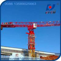 Buy cheap 70m or 74m Boom Length 18tons 60m Freestanding Height QTP315 Flattop Topless Tower Crane from wholesalers