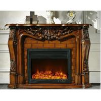 Buy cheap Artificial Decorative Freestanding Antique Wood Fireplace European from wholesalers