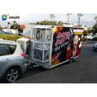 Buy cheap Trailer Mobile 5D Cinema Black / Red Luxury Chair with Complete Special Effect Machine product
