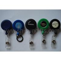 Buy cheap Frosted Round Solid Colors Retractable Badge Reels from wholesalers