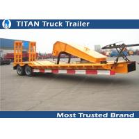 Buy cheap SKD type low bed trailer truck with 2 axles , gooseneck lowboy trailers from wholesalers