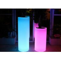 Buy cheap Customized Plastic Wedding Decorative Pillar Led Lighted Flower Pots ROHS from wholesalers