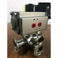 Buy cheap 3 way ball valve with pneumatic actuator from wholesalers