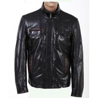 Buy cheap XXL XXXL Black and Plus Size Big and Tall Thick Leather PU Jacket for Mens product