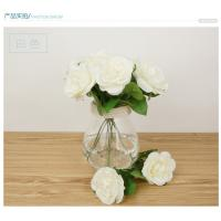 Buy cheap hot sale artificial rose silk flowers home party wedding decoration flower briday bouquet from wholesalers