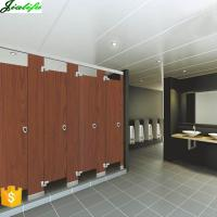Buy cheap Toilet cubicles wood grain panels supplier in Guangzhou Fair from wholesalers