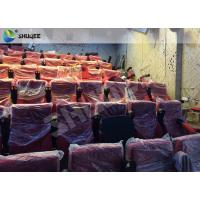 Buy cheap High Definition Film Projector 4D Theather With Movement Chair Orange product
