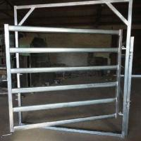 Buy cheap Galvanized Round Oval 40mm 6-bar Rail Livestock Sheep Panels from wholesalers