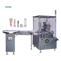Buy cheap Automatic Square Bottle Vertical Cartoning Machine With Hot Melt Glue Customized Voltage product