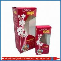 Buy cheap Clear Plastic Window Custom Color Offset Print Paper Packaging Box Tuck Top End from wholesalers
