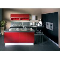 Buy cheap Wine Red Gloss Home Modern Kitchen Cabinets , Stand Alone Kitchen Cabinets  from wholesalers