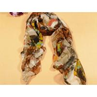 Buy cheap Ladies' Hand Printing Floral Polyester Scarf from wholesalers
