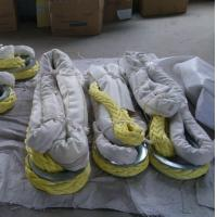 High strength but light weight UHMWPE rope tail ,sling rope with thimble