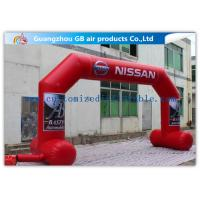 Buy cheap OEM / ODM Red Custom Inflatable Arch With Stable Legs Digital Printing product