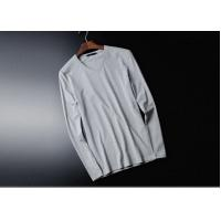 Buy cheap V Collar Pure Cotton Mens Long Sleeve Tee Shirts White Tight Top Autumn Clothing from wholesalers