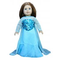 Buy cheap Frozn Elsa ' s Blue Long Dress For Dolls , American Girl Doll Dress from wholesalers