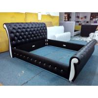 Buy cheap Bed Frame Queen Double New Modern Pure PU Leather Wooden Slat Base Mondeo from wholesalers