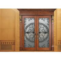 Buy cheap Glass Lowes Wrought Iron Entry Doors And Glass Agon Filled 22*64 inch Size Durable from wholesalers
