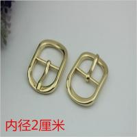 Buy cheap Fashion popular hardware accessories 20 mm zinc alloy gold oval pin buckle for shoes clothing hardware accessories from wholesalers