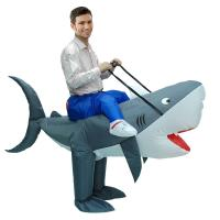 Buy cheap Outdoor Parade Funny Adult Costumes , Man Eating Shark Halloween Inflatable Costumes from wholesalers