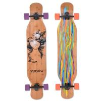 Buy cheap Losenka MS402 canadian wooden maple and bamboo surface longboards with transparent grip tape from wholesalers