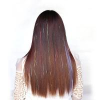Buy cheap Healthy Swiss Lace Pre Bonded Hair Extensions Medium Brown Color No Shedding from wholesalers