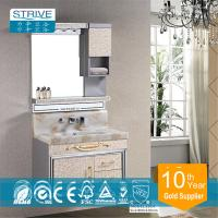 Buy cheap wall mounted makeup metal bathroom vanity cabinet stainless steel from wholesalers