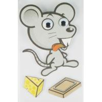 Buy cheap Big Animal Layered 3D Cartoon Stickers For Children Custom Offset Printed from wholesalers