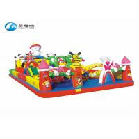 Buy cheap Happy camp  inflatable jumping castle, commercial grade inflatable playground, fun multiplay inflatable  castle combo fo from wholesalers