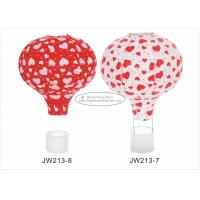 Buy cheap 12 14 16  Red Hot Air Balloon Paper Lantern Hearts Pattern For Event And Party from wholesalers