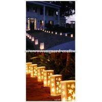 Buy cheap paper luminaire candle bags Fire-retardant paper candle bags in white color from wholesalers