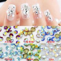 Buy cheap Sweet Strass Point Back Round Chatons AB Colors Nail Decoration Garment Trim Cell Phone Case Ornament Leotard Accessory from wholesalers