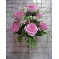 Buy cheap Artificial Flower, 10H Bird Nest Rose Bush(ZHJAF101). from wholesalers