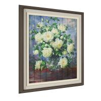 China Hotel / Home Decor Painting , Glitter Ribbon Camellia Flower Painting on sale