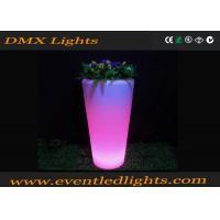 Buy cheap CE ROHS PE Plastic LED Flower Planter / RGB illuminated plant pots decoration from wholesalers