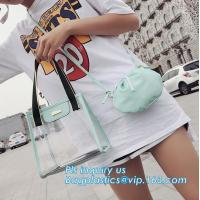 Buy cheap Vinyl PVC Chain Handbag Shoulder Bag for Young Ladies, Studded Clear Tote/PVC shoulder bagClassical Colorful PVC Wallet from wholesalers