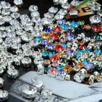 Buy cheap point back rhinestone silver claw sew on crystal glass stone in round from wholesalers