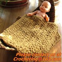 Buy cheap baby photo props handmade knit baby blank, table cover, handmade crochet, blanket, clothes from wholesalers
