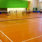 Buy cheap ISO9001 1.8m Width Scrape Coating Pvc Badminton Flooring from wholesalers